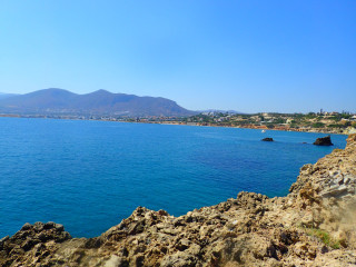 Snorkelling on Crete Greece  9092